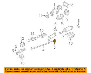 honda oem 06 11 civic 1 3l l4 exhaust center pipe insulator rh ebay com