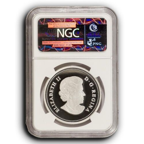 2014 NGC PF70 Early Releases The Woolly Mammoth Canada 1 oz Proof Silver Coin