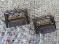 Rustic Industrial Cast Iron Cup Handle File Label Drawer Pull Knob