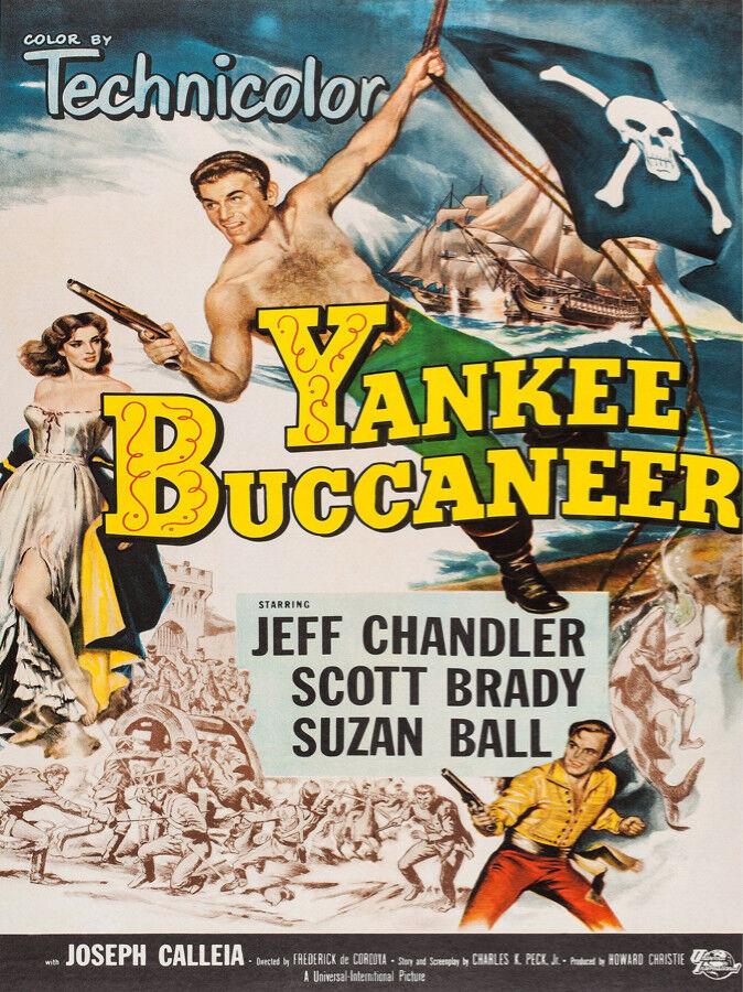 Decor POSTER.Home room Art.Interior Design.Yankee Buccaneer.Pirate movie.6946