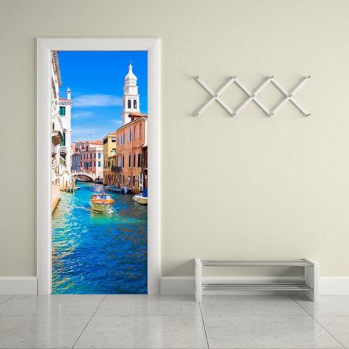 New 3D DIY PVC Waterproof  Door Wall Sticker Venice qd028