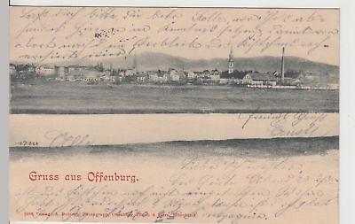 (113341) Ak Gruß Aus Offenburg, Panorama 1900 Heller Glanz