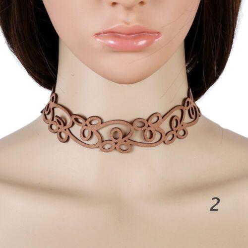 Gold Crystal Precious Vintage Velvet Bib Retro Necklace Pendant Choker Jewelry
