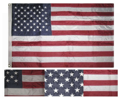 2x3 Embroidered USA United States Stars 210D Sewn Nylon Flag 2/'x3/' Grommets