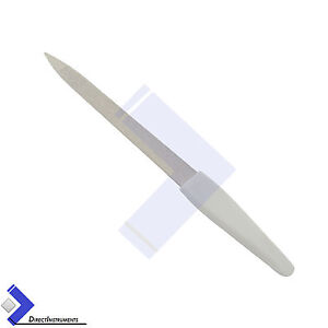 Professional-Chiropody-White-Metal-Finger-Feet-Nail-file-Double-Sided-Manicure