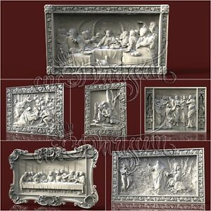 6-3D-Models-STL-CNC-Router-Artcam-Aspire-Religion-Jesus-Panel-Cut3D-Vcarve