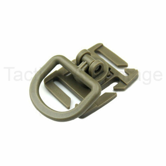 Molle Rotating D Ring Buckle Clip For 20mm & 25mm Webbing Black Khaki D-Ring UK