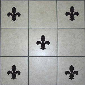 20 Fleur De Lys Tile Stickers Transfer Decals Bathroom Kitchen