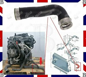 VW-Audi-Seat-Skoda-1-9-2-0-TDI-Turbo-Intercooler-Manguera-De-Tuberia-1K0145834L