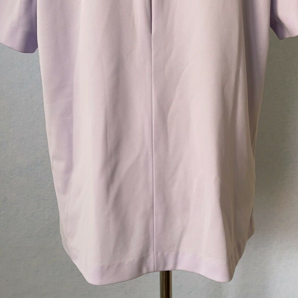 Graff Vintage Lilac Ruffled High Tie Neck Blouse,… - image 8