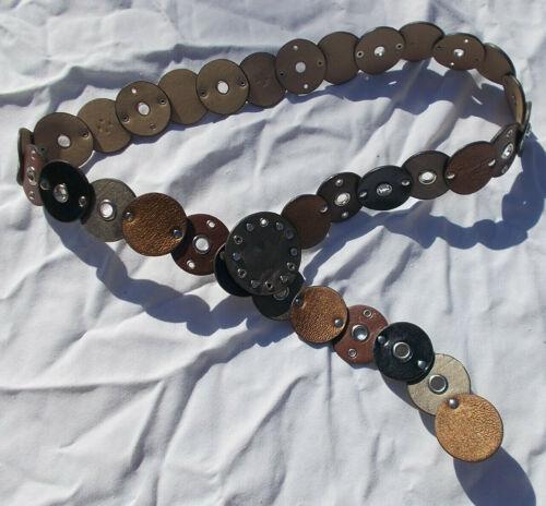 Medallion Belt L XL Womens Circle Link Grommet Bro