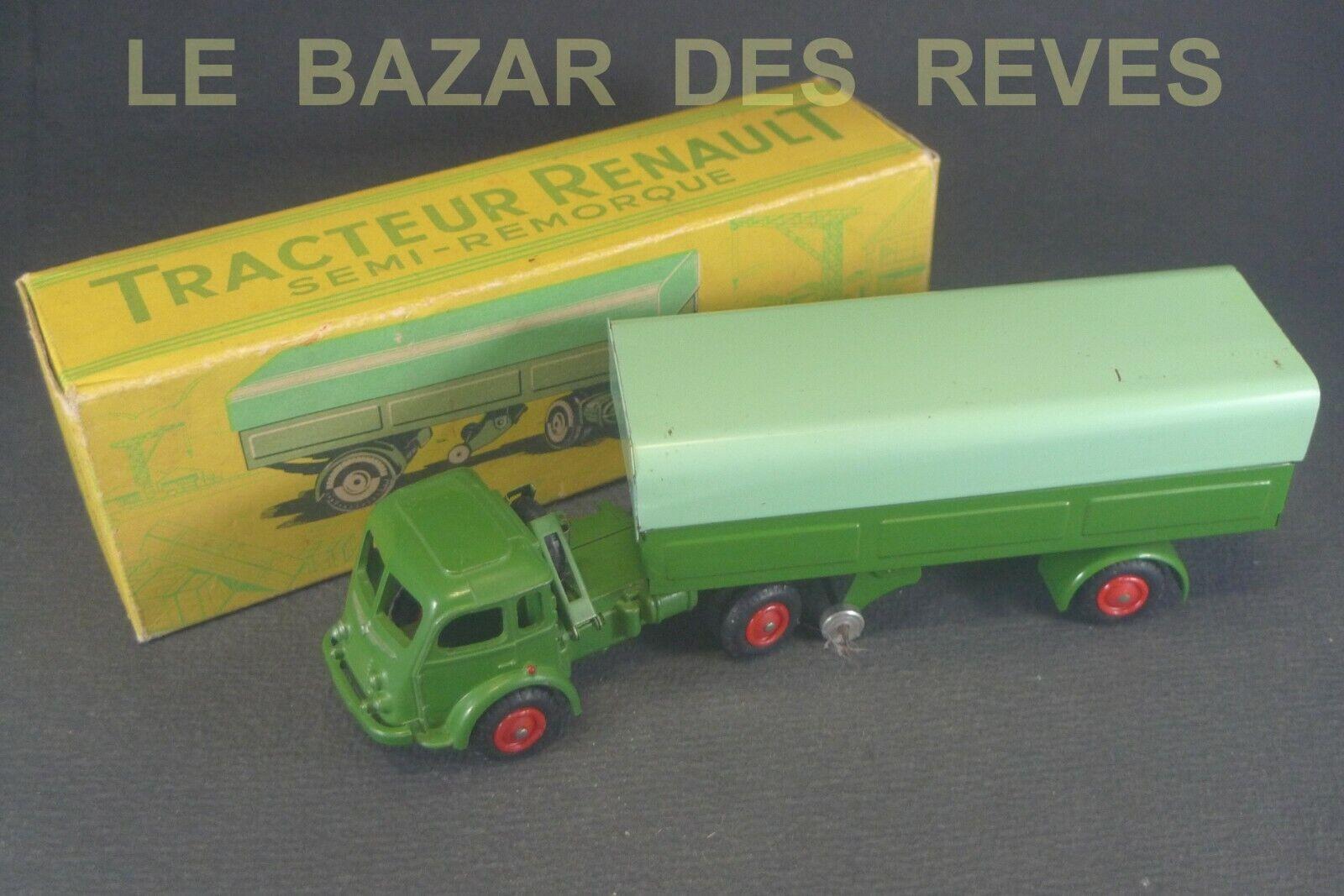 CIJ FRANCE. Tracteur RENAULT 120 CV. REF  3 70.  + Boite.