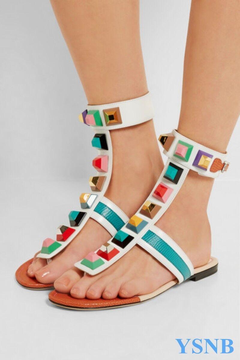 Roma Mujer Zapatos Charol Remache Remache Remache Ojotas Tanga Playa Sandalia Zapatos Tallas Grandes  Para tu estilo de juego a los precios más baratos.