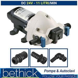 POMPA AUTOCLAVE BARCA E CAMPER - FLOJET TRIPLEX 24V 11 LT/MIN CON PRESSOSTATO