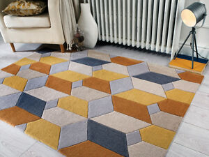 Modern-Grey-Ochre-Yellow-3D-Area-Rug-New-Soft-Geometric-Living-Room-Area-Rugs