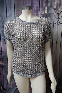 WOMENS-NEW-YORK-SIZE-M-GRAY-LOOSE-KNIT-FALL-SUMMER-SWEATER