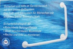 Provex Animo Wandhaltegriff  90° + 145° beschichtetes Aluminium Weiß NEU 0105