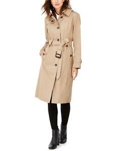 220 London Fog Hooded Maxi Trench Coat Size S Ebay