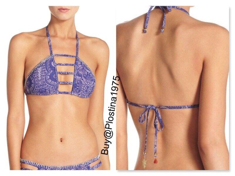 NWT    Ale by Alessandra 'Henna bluees' Halter Bikini Top [Size S]  U169