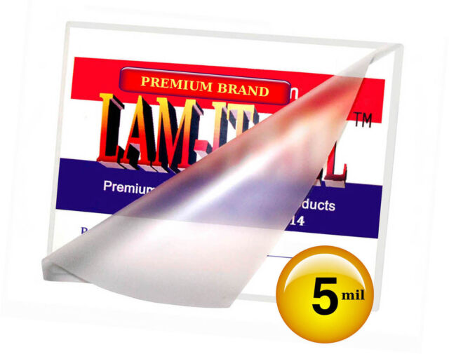 500 Hot 5 Mil Mini Menu Laminating Pouches 11 25 X 17 25 For 11x17 By Lam It All For Sale Online Ebay