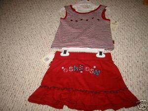 936ddfe10 OKG3 NWT 3 3T Osh Kosh Girls red white blue top   skort