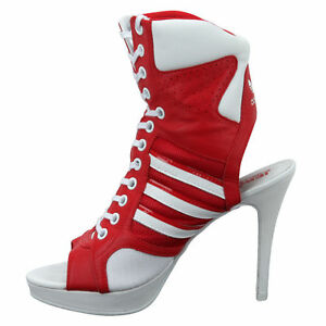 2e92ffdd73d4 Details about New Adidas Women s Originals Jeremy Scott Js High Heel  Leather Shoes D65702