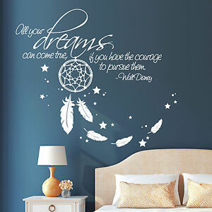 wandtattoo all your dreams spruch zitat disney tr ume. Black Bedroom Furniture Sets. Home Design Ideas