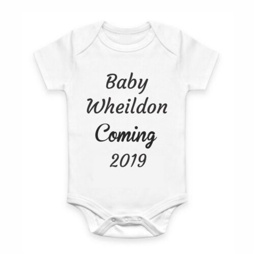 Cute Baby Clothes Romper with print Baby coming soon