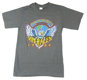 Van Halen Tour of The World 1984 Adult T-Shirt