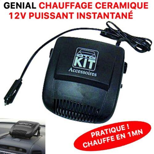 CHAUFFE LA VOITURE EN 1MN BATEAU CAMPING CAR PRATIQUE CHAUFFAGE 12V CERAMIQUE