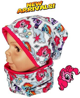 Girl Kid My Little Pony Hat Tube Scarf Spring Autumn Cotton Set 1-2-4-8 Years