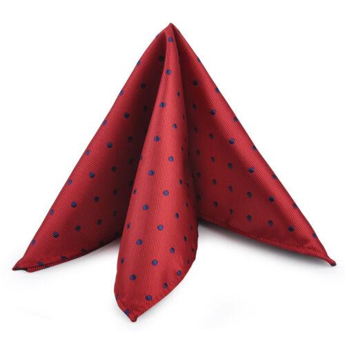 2X Herren Einstecktuch Punkte Taschentuch Hochzeit Party Dot Handkerchief 25cm