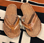 cute-Hand-tooled-Flip-Flops-rubber-sole thumbnail 1