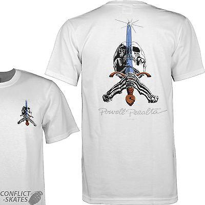 Powell Peralta Skateboard Shirt Skull /& Sword Black