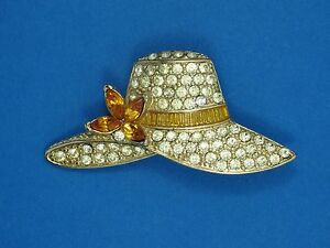 VINTAGE-signed-034-MONET-034-PAVE-RHINESTONE-HAT-PIN-BROOCH-1-7-8-034