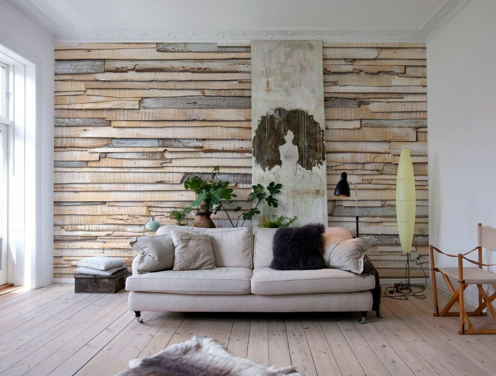 Wall Mural Photo Wallpaper WeißWASHED WOOD WOODEN WALL Home Art Decor 368X254cm