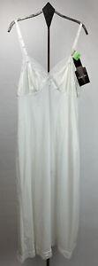 Vtg Vanity Fair Womens Nylon Full Slip Lace Accents White USA NWT Size 34
