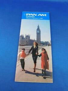 PAN-AM-AIRLINE-SCHEDULE-PAN-AMERICAN-FEBRUARY-1987-ADVERTISING-TIMETABLE