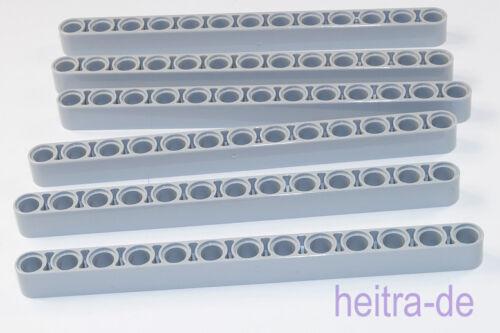 6 x liftarm 1x13 GRIGIO CHIARO spesso//L Bluish Gray//41239 Merce Nuova Tecnologia LEGO