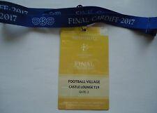 TICKET Pass gelb Keyholder UEFA CL Finale 2017 Juventus Turin - Real Madrid # 4