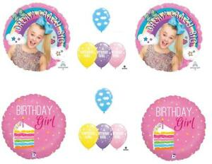 12 PC JOJO SIWA Happy Birthday Balloons CAKE
