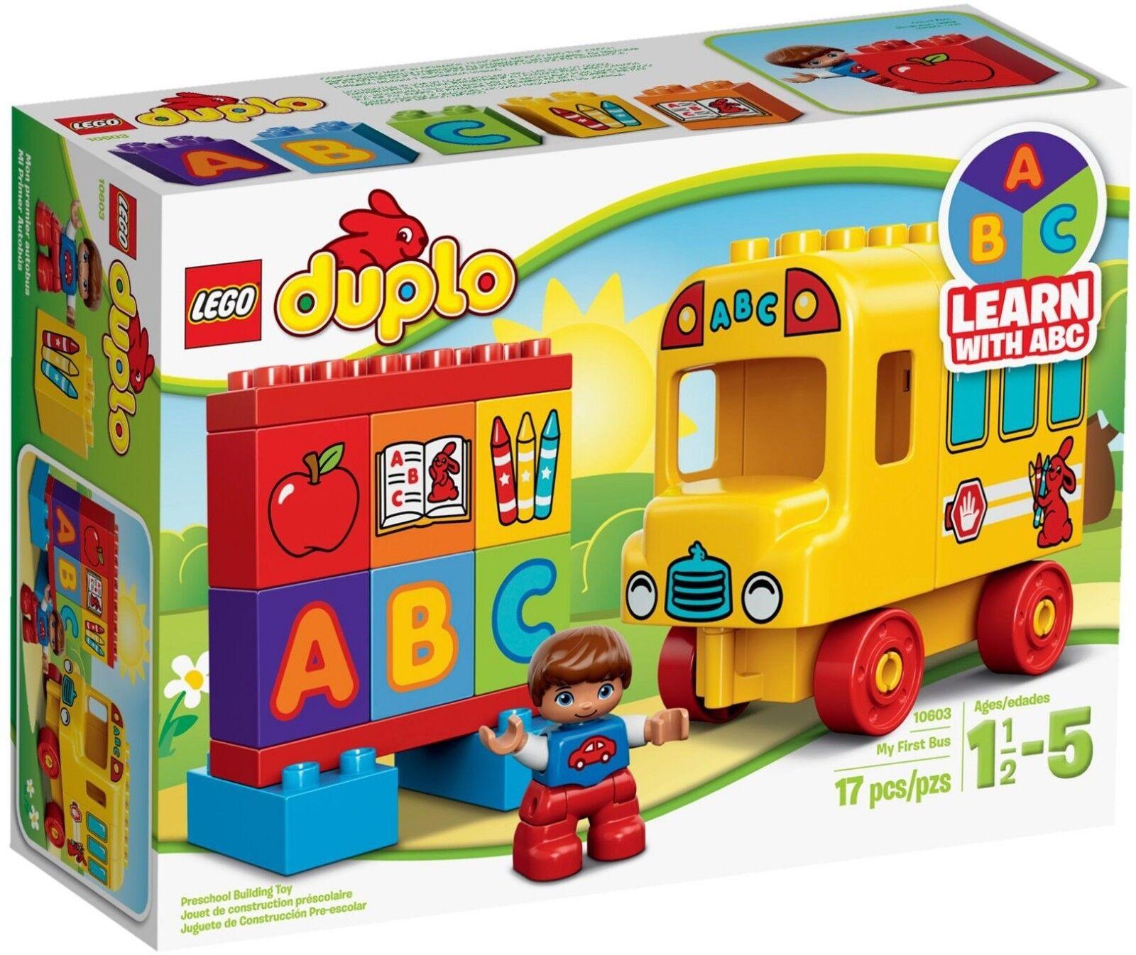 Lego 10603 Duplo My first Bus school bus ABC alphabet school supplies