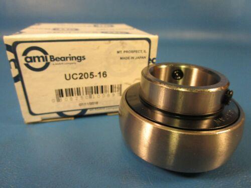 ASAHI UC205-16 Ball Bearing Insert Double Sealed Setscrew Locking Collar AMI