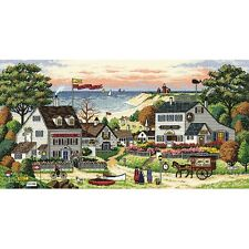 """Gold Collection Cozy Cove Counted Cross Stitch Kit-18""""X9"""" 18 Count NEW"""