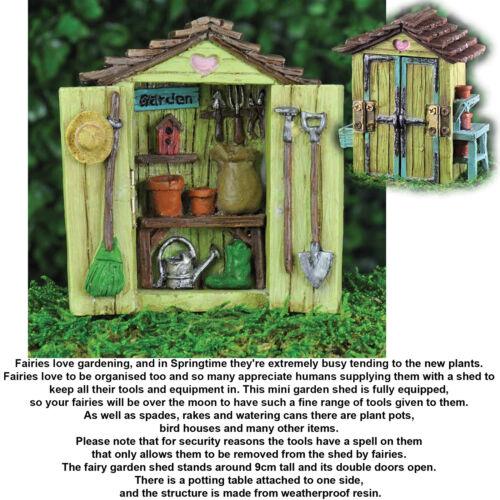 Fiddlehead Georgetown Mini Miniature Fairy Garden Shed Garage Home  Accessory | EBay