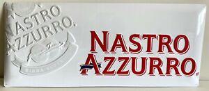Peroni-Nastro-Azzurro-Targa-Pubblicitaria-in-latta-in-rilievo