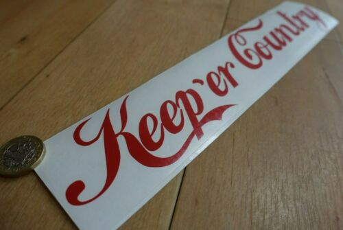 Keep er Country Large Decal Sticker Car Agri Spec Windscreen Window Her RED