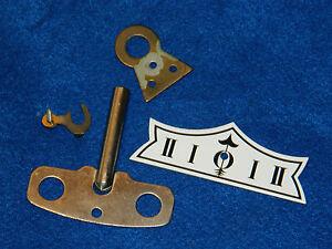 parts-PIECES-cle-KEY-horloge-R-A-wall-CLOCK-Wanduhr-PENDULE-regulateur-GERMANY