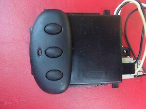 Homelink non rolling code transmitter remote garage door opener black ebay - Rolling code garage door remote ...