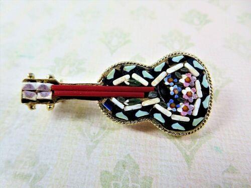 Italian Mosaic Guitar Pin